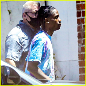 Travis Scott Heads to the Recording Studio in Hollywood