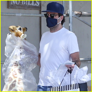 Zachary Quinto Carries Giant Stuffed Giraffe While Heading to a Birthday Party