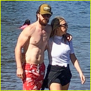 Aaron Taylor-Johnson Looks Buff at the Beach With Wife Sam