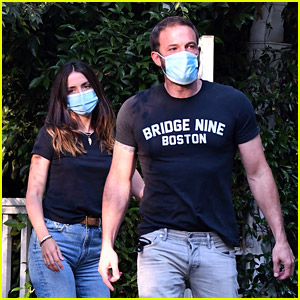 Ben Affleck & Ana de Armas Drop Off His Kids at Jennifer Garner's Home