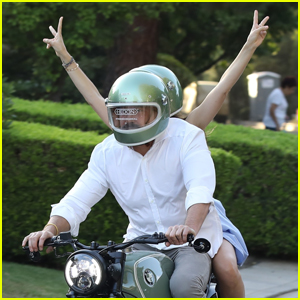 Ben Affleck Takes Girlfriend Ana de Armas on a Ride on His New BMW Motorcycle for His Birthday!