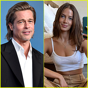 Brad Pitt Brings New Flame Nicole Poturalski To Where He Married Angelina Jolie Brad Pitt Nicole Poturalski Just Jared