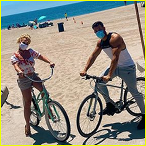 Britney Spears & Boyfriend Sam Asghari Enjoy a Bike Ride at the Beach