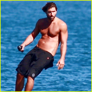 Brody Jenner Looks Fit Riding an Electric Hydrofoil at the Beach in Malibu