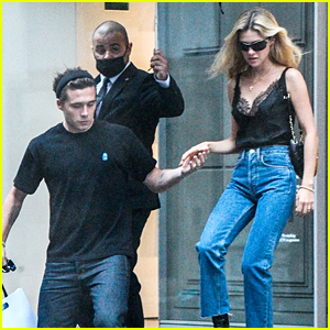 Brooklyn Beckham Visits His Mom's Store with Fiancee Nicola Peltz