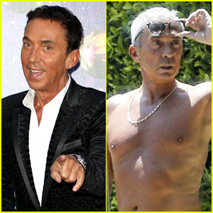 DWTS' Bruno Tonioli Shows Off New Silver Hair While Going Shirtless in L.A.