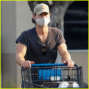 Chace Crawford Wears a Mask While Grabbing Groceries in LA