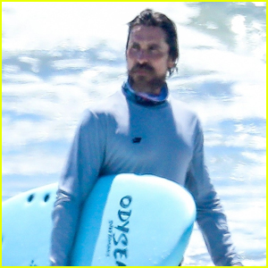 Christian Bale Catches a Few Waves at the Beach in Malibu