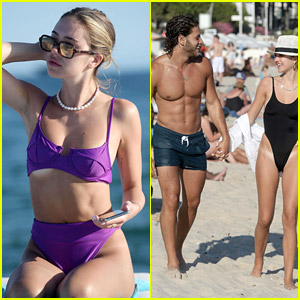 Delilah Belle Hamlin & Boyfriend Eyal Booker Show Off Their Hot Bodies in France!