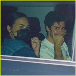 Demi Lovato & Fiance Max Ehrich Enjoy a Date Night at Nobu