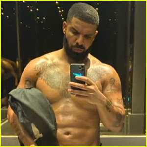 Drake Shares Sweaty Shirtless Selfie After a Workout!