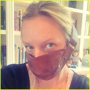 Elisabeth Moss Poses in 'Handmaid's Tale' Masks, Jokes She's Been Wearing It 'Before It Was Cool'