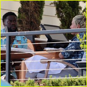 Ellen DeGeneres & Kevin Hart Meet Up for Lunch in Montecito