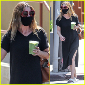 Ellen Pompeo Heads Out on Juice Run with a Friend