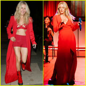 Ellie Goulding Is Red Hot After Her First Concert of 2020