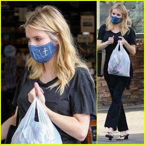 Pregnant Emma Roberts Grabs Some Sweet Treats in LA