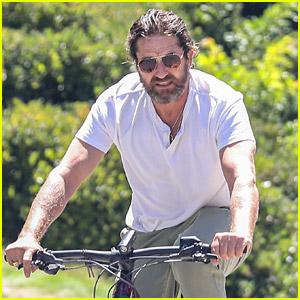 Gerard Butler Goes Biking to Wrap Up His Weekend