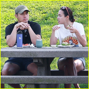 Henry Golding & Wife Liv Lo Enjoy a Lunch Date at the Park