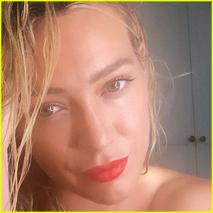 Hilary Duff 'Popped a Red Lip On' for a Cute Selfie - See the Pic!