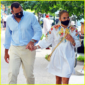 Jennifer Lopez Promotes Wearing a Mask Before Heading to Dinner With Alex Rodriguez
