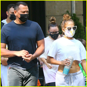 Jennifer Lopez & Alex Rodriguez Head Out for the Day in NYC