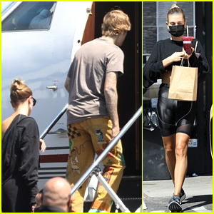 Justin Bieber Catches a Private Flight Out of Town with Hailey