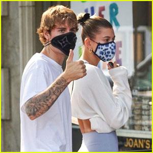 Justin & Hailey Bieber Hit Up a Local Breakfast Spot