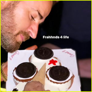 Justin Theroux Had a 'Cookie Puss Cake' for His Birthday!