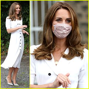 Kate Middleton Wears A Face Mask During Public Appearance To Baby Basic Event in London