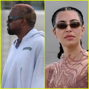 Kim Kardashian & Kanye West Arrive in Miami With the Kids