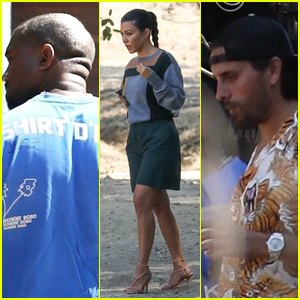 Kanye West, Kourtney Kardashian & Scott Disick Check Out a Property Together