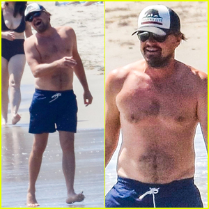 Leonardo DiCaprio Looks Like He's Having a Great Time During His Shirtless Beach Day!