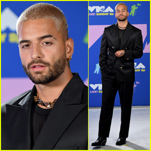 Maluma Looks Slick in a Silk Suit for MTV VMAs 2020