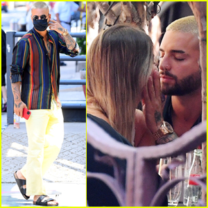 Maluma Packs on the PDA with Mystery Woman in NYC
