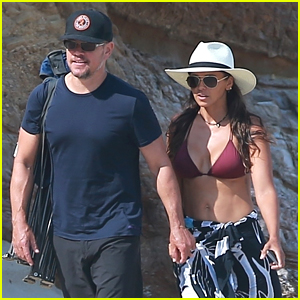 Matt Damon & Wife Luciana Spend Another Relaxing Day at the Beach