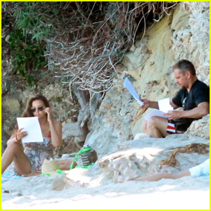 Matt Damon Reads a Script With Wife Luciana in Malibu