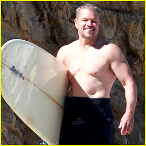 Matt Damon Strips Out of His Wet Suit, Goes Shirtless for Beach Day!