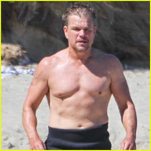 Matt Damon Shows Off His Fit Physique During Day at the Beach