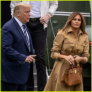 Melania Trump Appears to Pull Hand Away from President Trump Yet Again - See Viral Video