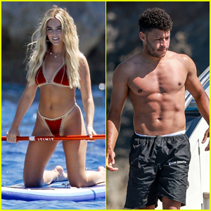 Little Mix's Perrie Edwards Enjoys a Day at Sea With Beau Alex Oxlade-Chamberlain in Ibiza