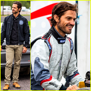 Sweden's Hot Prince Carl Philip Goes Go-Karting in a Race Named After Him!
