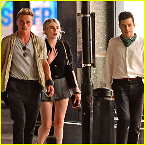 Rami Malek & Lucy Boynton Hang Out with 'Bohemian Rhapsody' Co-Star Ben Hardy!