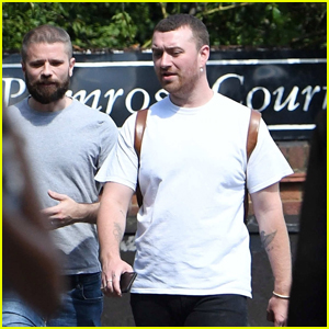 Sam Smith Takes a Sunny Stroll With Friends in London