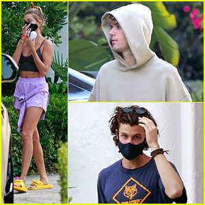 Shawn Mendes Meets Up With Hailey & Justin Bieber At Home Recording Studio