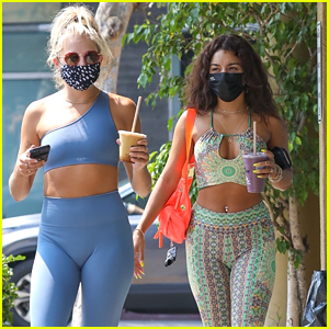 Vanessa Hudgens Channels The 1970s With Her Retro Workout Outfit