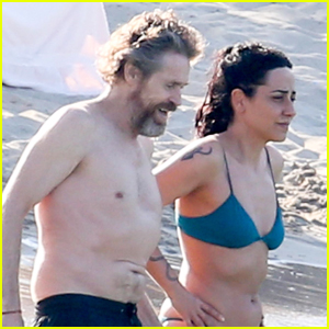 Willem Dafoe & Wife Giada Colagrande Enjoy a Day at the Beach in Italy