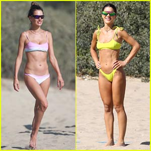 Alessandra Ambrosio & Camila Coelho Flaunt Amazing Beach Bods While Playing Volleyball!