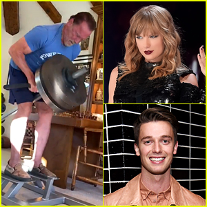 Arnold Schwarzenegger Works Out to Taylor Swift Music - See His Son Patrick's Reaction!