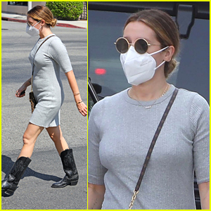 Pregnant Ashley Tisdale Shows Off Growing Baby Bump While Out To Lunch in LA