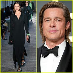 Brad Pitt's Girlfriend Nicole Poturalski Walks the Runway During Milan Fashion Week